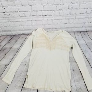 Lucky Brand Long Sleeve Creme Thermal Top